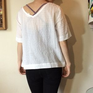 Eileen Fisher Tops - Eileen Fisher white Summer Cotton Sheer Blouse